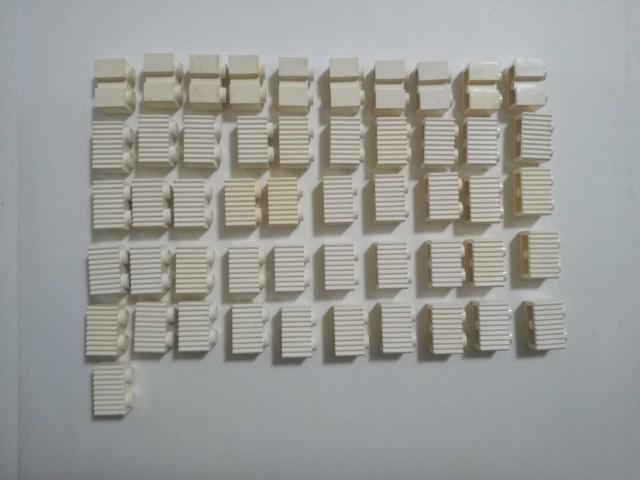 A304 白色 ホワイト 1×4 ギザギザブロックパーツ 大量 約51個 レゴパーツ LEGO_画像1