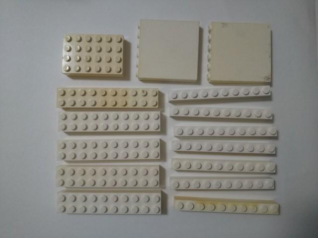 A305 白色 ホワイト 2×10 1×10 4×6 1×6ロング ブロックパーツ 大量 約30個 レゴパーツ LEGO_画像1