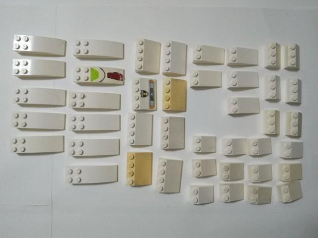 A314 白色 ホワイト スロープブロックパーツ 種類色々 大量 約42個 レゴパーツ LEGO_画像1
