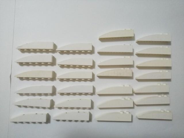A316 白色 ホワイト 1×6 スロープブロックパーツ 逆スロープブロックパーツ 大量 約26個 レゴパーツ LEGO_画像1