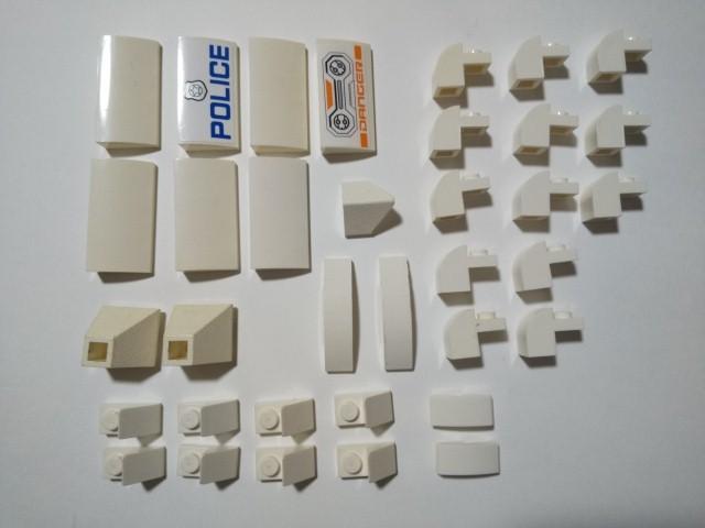 A324 白色 ホワイト スロープブロックパーツ種類色々 大量 約35個 レゴパーツ LEGO_画像1