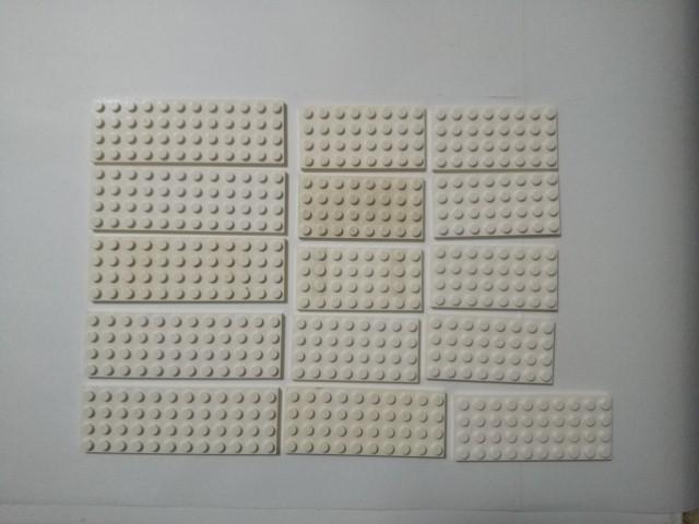 A350 白色 ホワイト 4×8 4×10 プレートブロック 大量 約25個 レゴパーツ LEGO_画像1