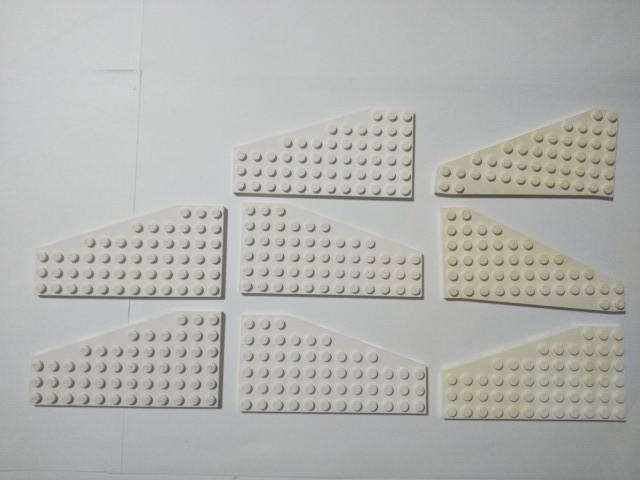 A363 白色 ホワイト ウイング系プレート 大量 約8個 レゴパーツ LEGO_画像1