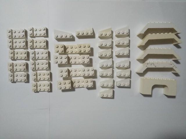 A403 白色 ホワイト 乗り物 台座 変わったパーツ 他種類いろいろ 大量 約35個 レゴパーツ LEGO_画像1