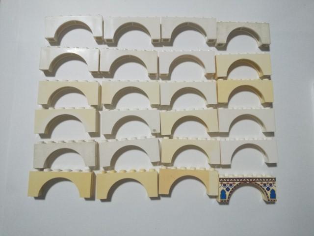 A404 白色 ホワイト アーチパーツ 大量 約24個 レゴパーツ LEGO_画像1