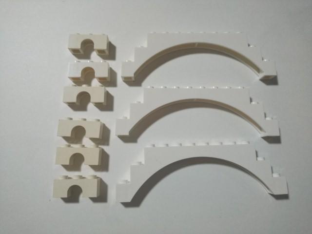 A408 白色 ホワイト アーチパーツ 大量 約9個 レゴパーツ LEGO_画像1
