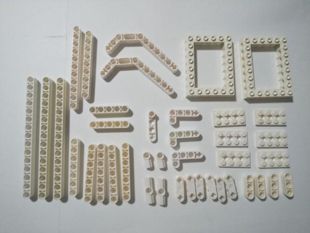A410 白色 ホワイト テクニック穴あきパーツ 大量 約40個 レゴパーツ LEGO_画像1