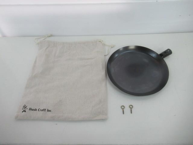 Bush Craft Inc. ブッシュクラフト たき火フライパン 鉄製 アウトドア 焚火 焚き火 キャンプ 調理器具 024048005_画像1