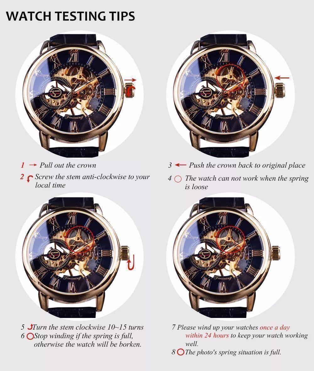 【1円スタート!】最落なし!メンズ高品質腕時計 海外大人気ブランドFORSINING スケルトンダイヤル3Dロゴデザイン ホワイト×ブラウン♪1_画像8