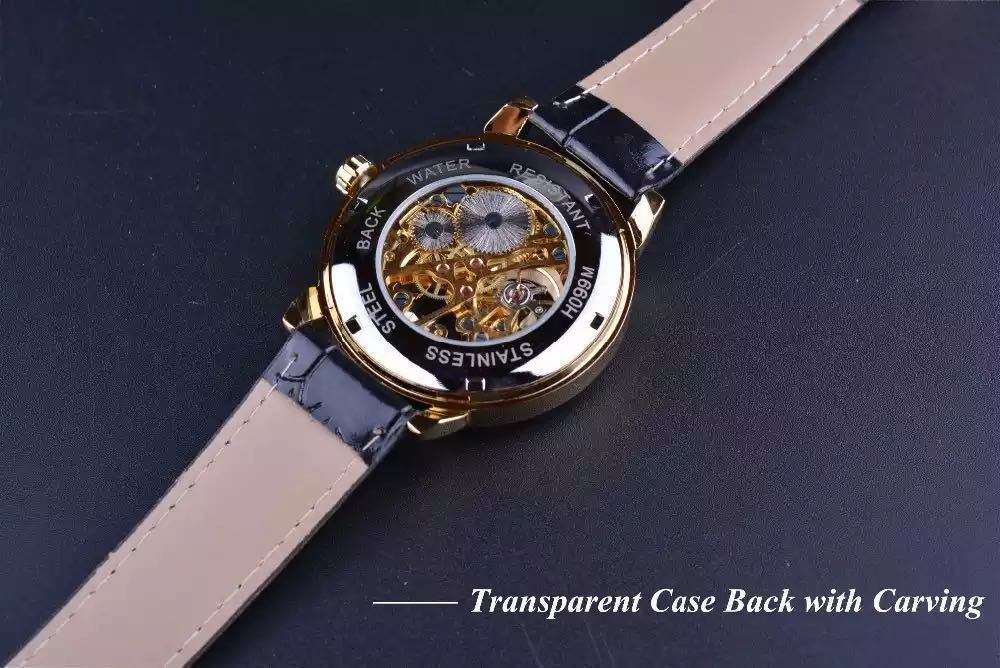 【1円スタート!】最落なし!メンズ高品質腕時計 海外大人気ブランドFORSINING スケルトンダイヤル3Dロゴデザイン ホワイト×ブラウン♪1_画像7