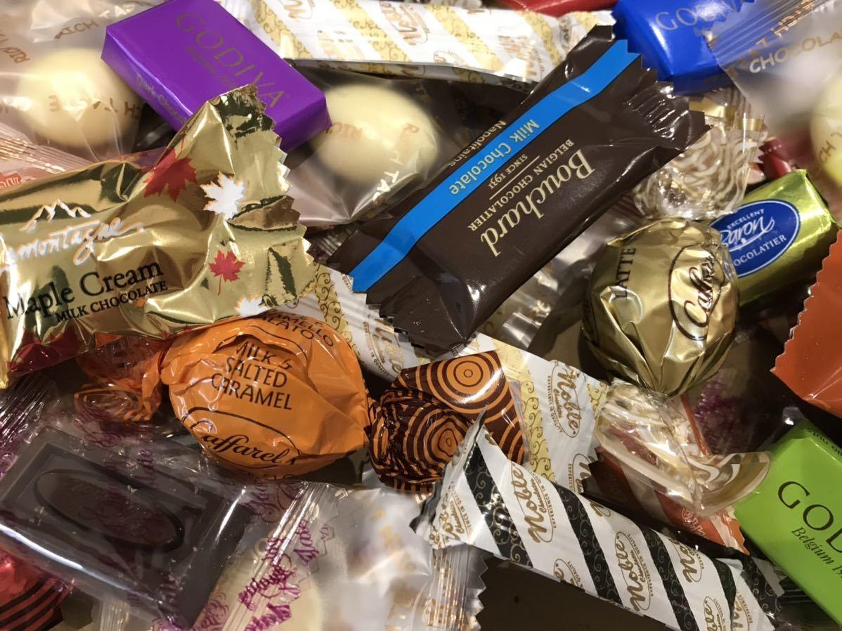 送料210円~1円スタート!お菓子詰め合わせセット約80個 GODIVAゴディバチョコレート&ベルギーチョコ&カファレルチョコ高級 お買い得格安_画像5