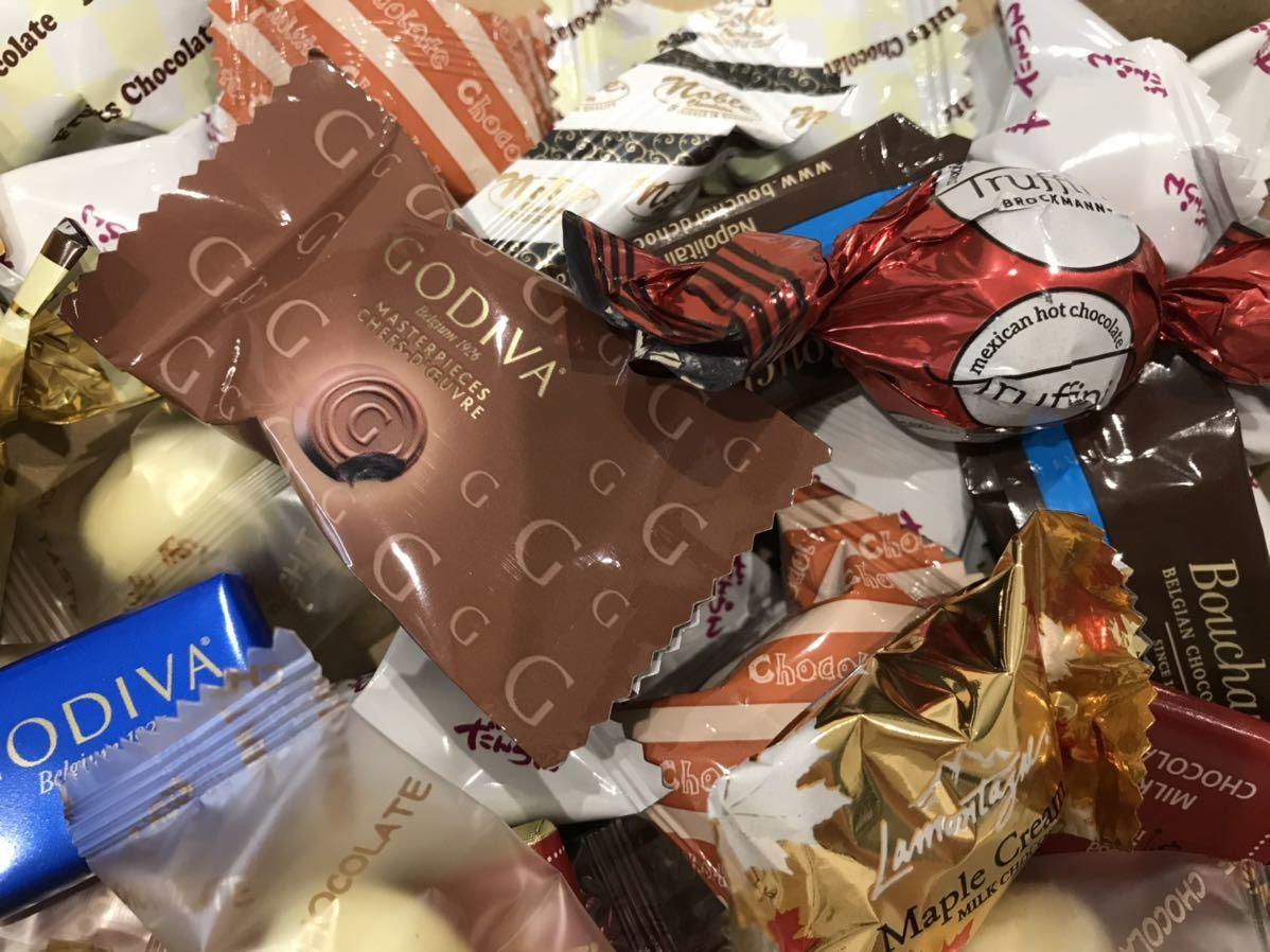 送料210円~1円スタート!お菓子詰め合わせセット約80個 GODIVAゴディバチョコレート&ベルギーチョコ&カファレルチョコ高級 お買い得格安_画像3