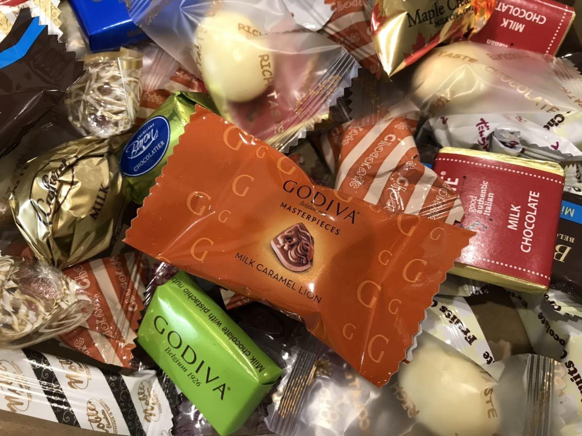送料210円~1円スタート!お菓子詰め合わせセット約80個 GODIVAゴディバチョコレート&ベルギーチョコ&カファレルチョコ高級 お買い得格安_画像4
