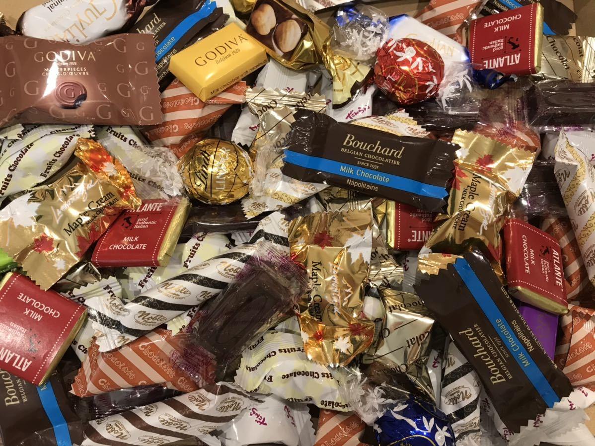送料210円~1円スタート!お菓子詰め合わせセット約80個 GODIVAゴディバチョコレート&ベルギーチョコ&リンツリンドール高級 お買い得格安_画像1