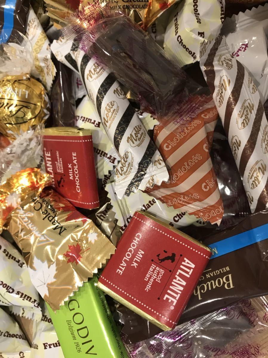 送料210円~1円スタート!お菓子詰め合わせセット約80個 GODIVAゴディバチョコレート&ベルギーチョコ&リンツリンドール高級 お買い得格安_画像5