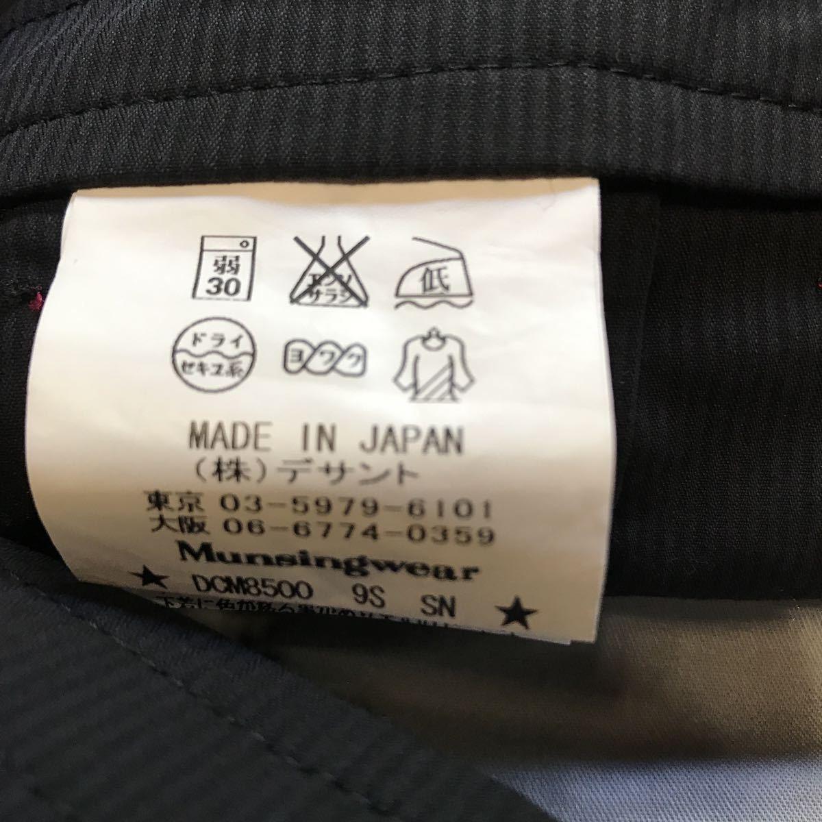W2F黒b マンシングウェア デサント ハーフパンツ 日本製 ゴルフウェア パンツ_画像4