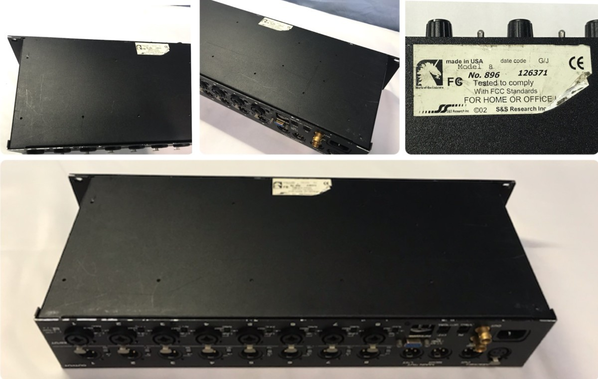 21B097 送料無料 MOTU 896 96kHz FireWire モツ オーディオインターフェイス ジャンク 通電確認済_画像8