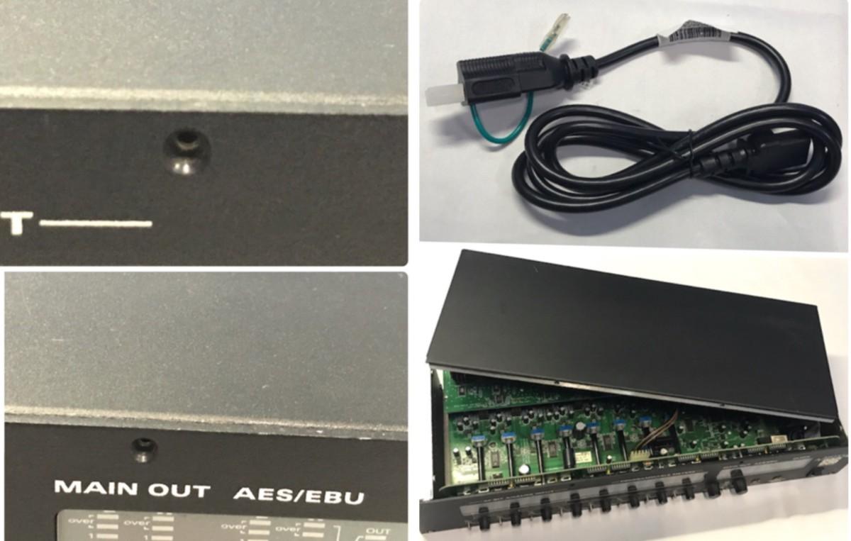 21B097 送料無料 MOTU 896 96kHz FireWire モツ オーディオインターフェイス ジャンク 通電確認済_画像10