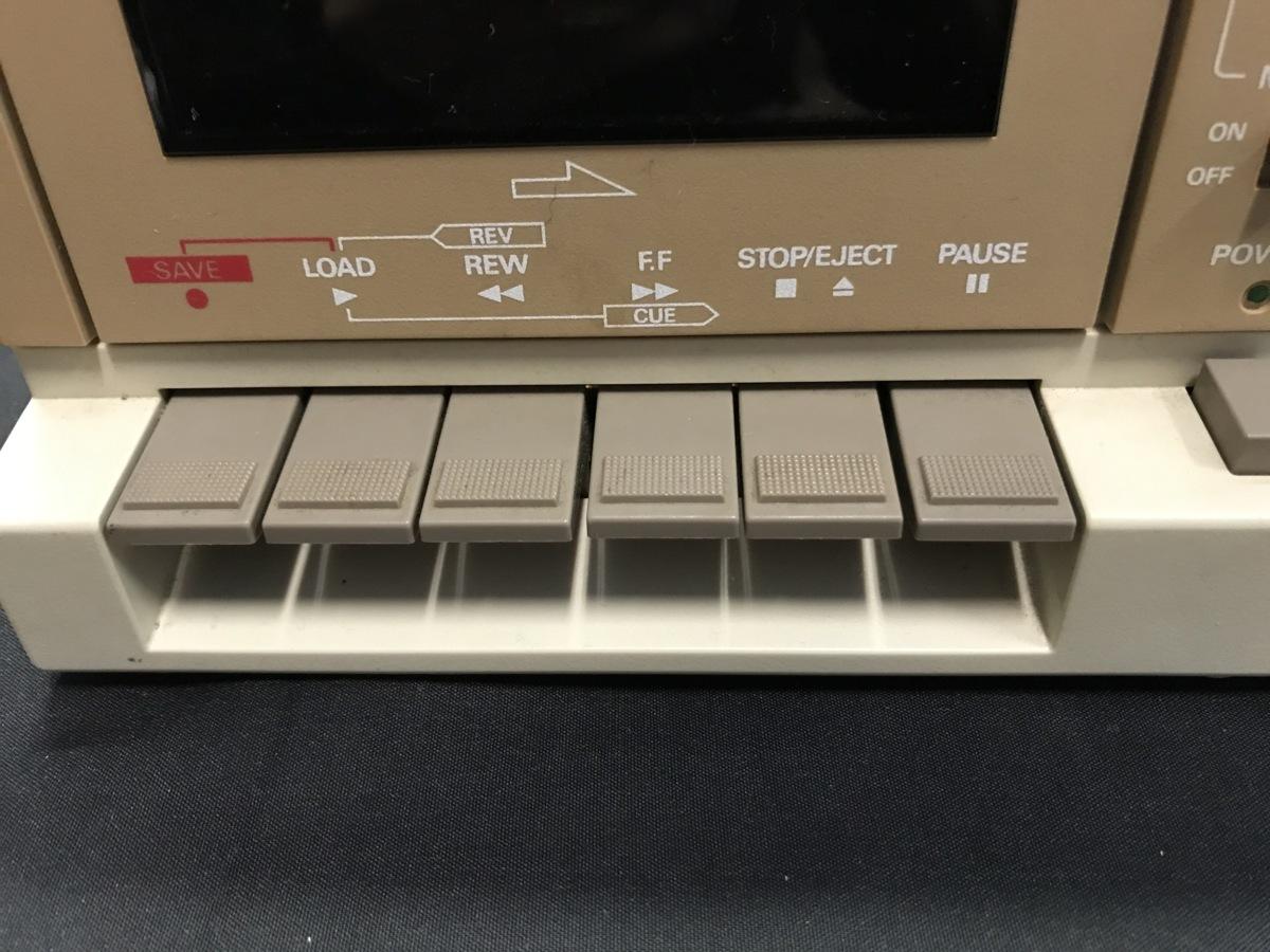 21A081 送料無料 NEC PC-DR311 データレコーダー DATA RECORDER 通電確認済 ジャンク扱い_画像3