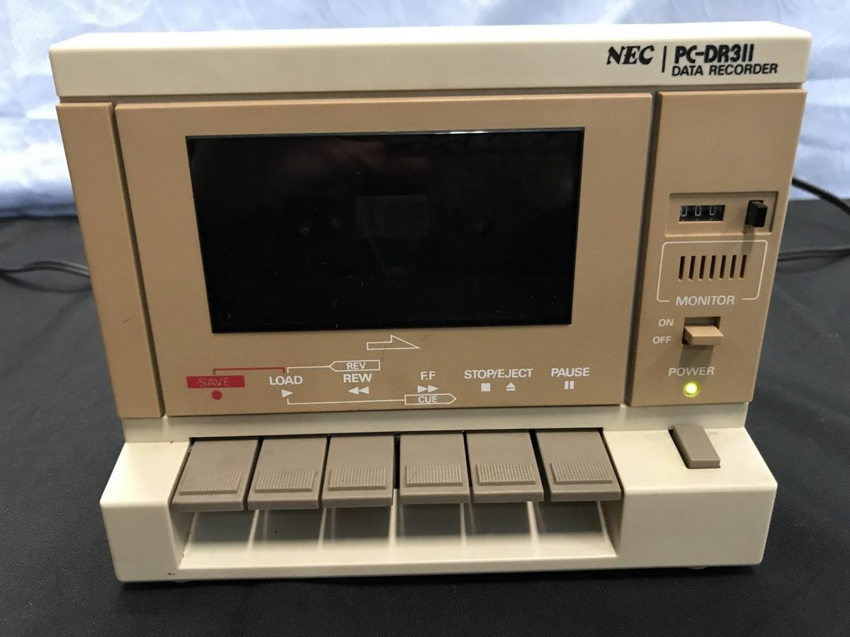 21A081 送料無料 NEC PC-DR311 データレコーダー DATA RECORDER 通電確認済 ジャンク扱い_画像1