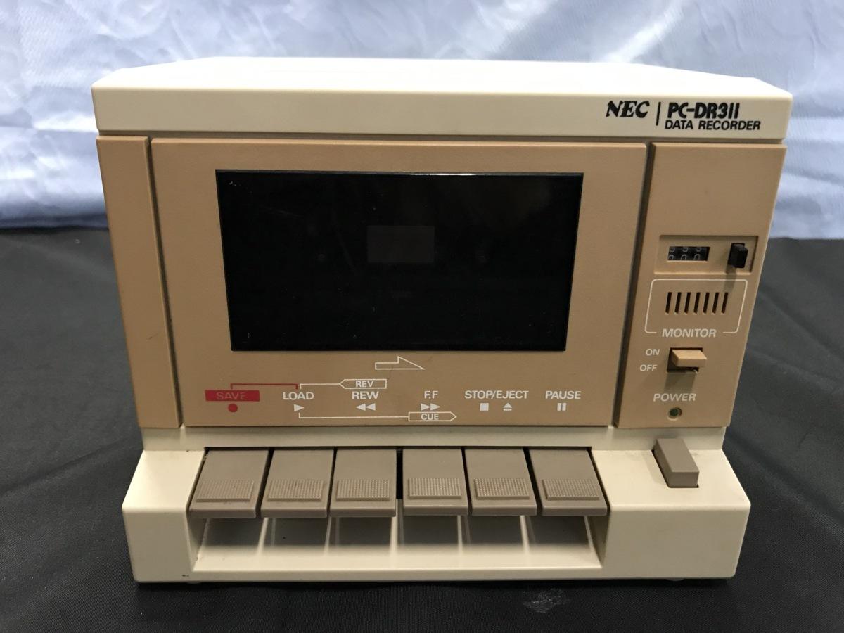 21A081 送料無料 NEC PC-DR311 データレコーダー DATA RECORDER 通電確認済 ジャンク扱い_画像2