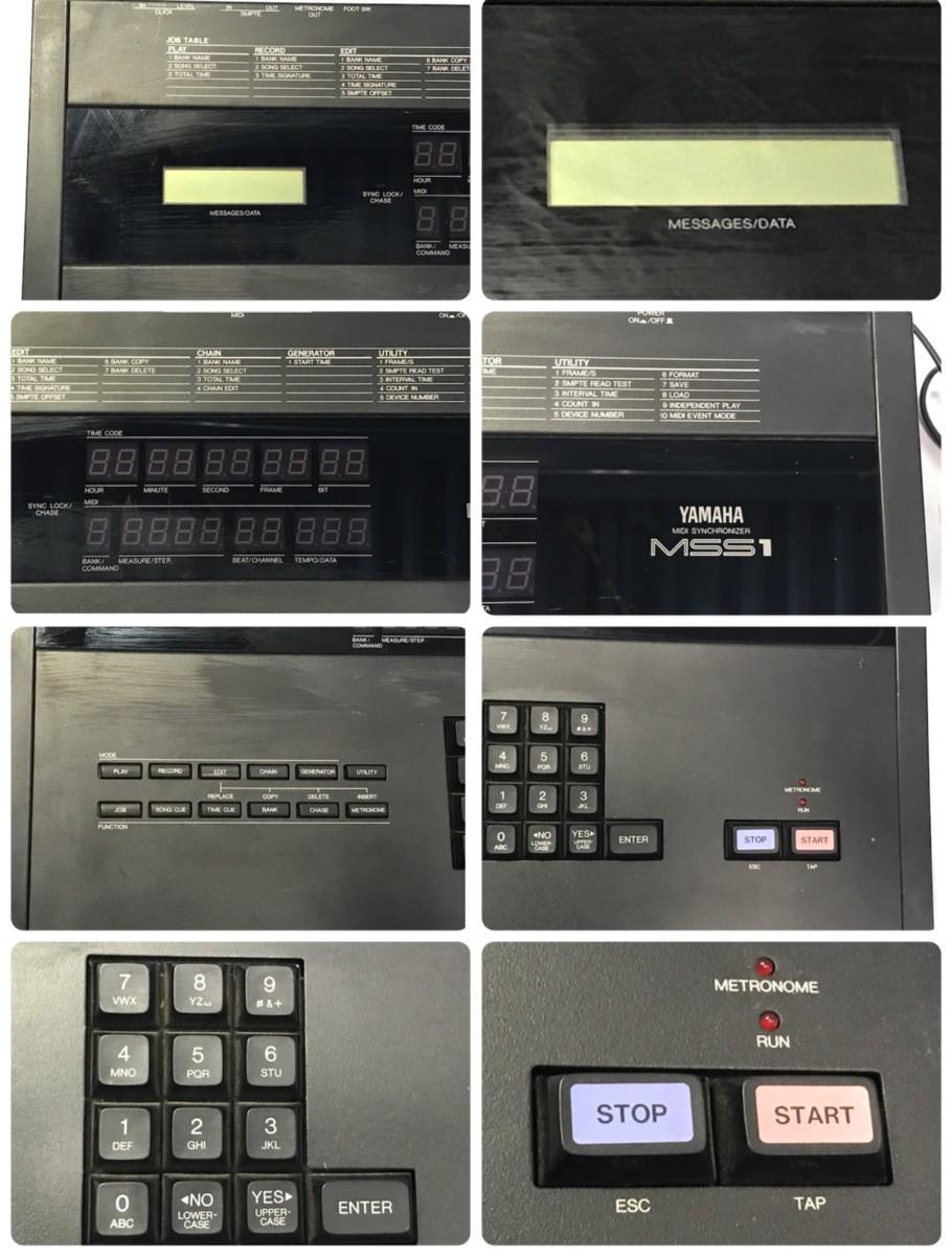 21B102 送料無料 YAMAHA MIDI SYNCHRONIZER MSS1 ヤマハ シンクロナイザー ジャンク 通電確認済_画像3