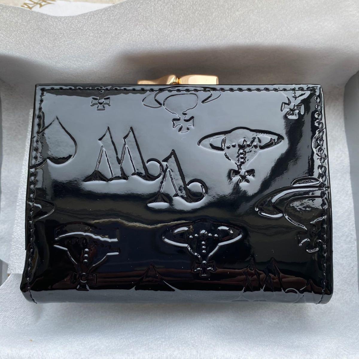 Vivienne Westwood ヴィヴィアンウエストウッド エナメル財布 ヴィヴィアンウェストウッド 三つ折り財布