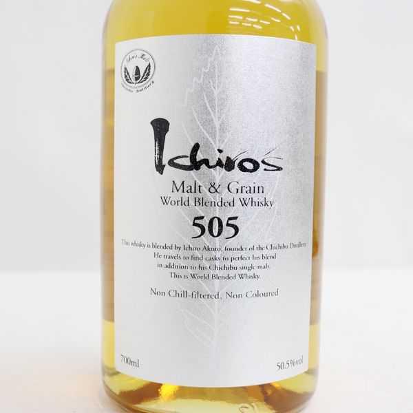 ★Ichiro's Malt(イチローズモルト)モルト&グレーン ワールドブレンデッド 505 シルバーラベル 50.5% 700ml N20H060026_画像2