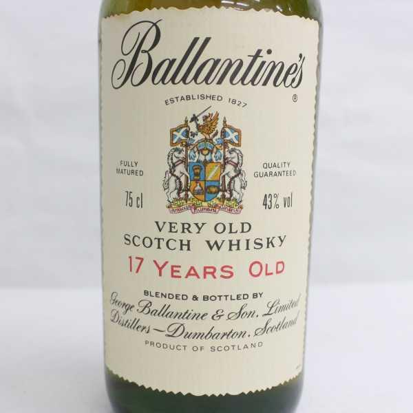 1円~Ballantine's(バランタイン)17年 ベリーオールド 43% 750ml T21D110005_画像2