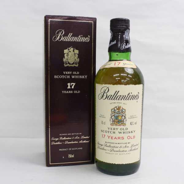 1円~Ballantine's(バランタイン)17年 ベリーオールド 43% 750ml T21D110005_画像1
