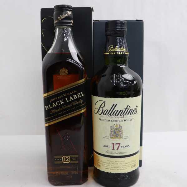 1円~【2本セット】ウイスキー各種(バランタイン 17年 40% 700ml等)G21D110014_画像1