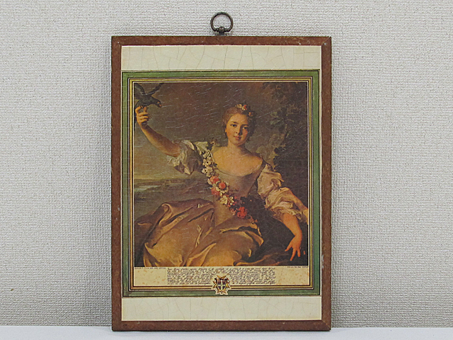 ARTDECO アートデコ アンティーク調 壁飾 ウォールデコ 「女性」 サイズ約395x295mm/インテリア雑貨 壁掛 -011_画像1