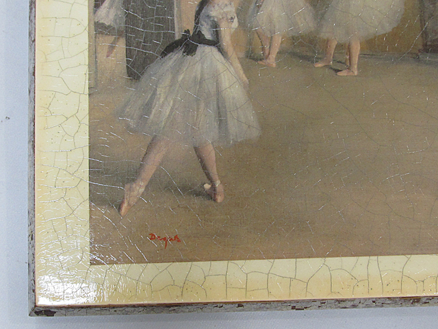 ARTDECO アートデコ アンティーク調 壁飾 ウォールデコ 「バレエ 少女」 サイズ約295x395mm/インテリア雑貨 壁掛 -013_画像3