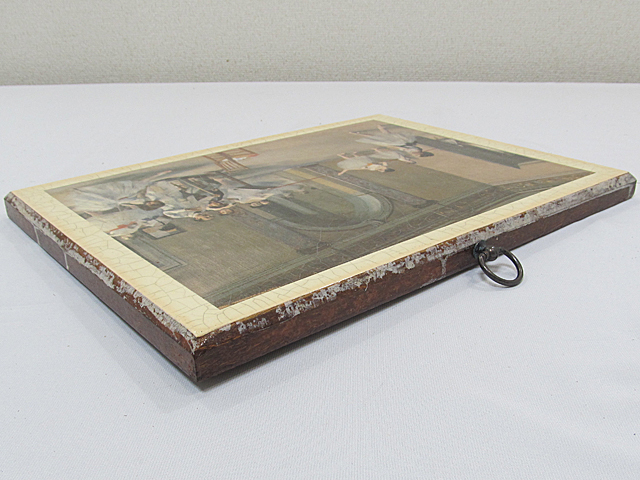 ARTDECO アートデコ アンティーク調 壁飾 ウォールデコ 「バレエ 少女」 サイズ約295x395mm/インテリア雑貨 壁掛 -013_画像5