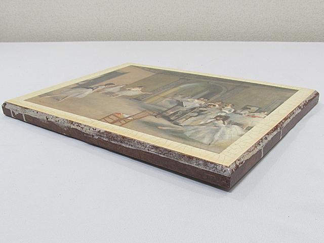 ARTDECO アートデコ アンティーク調 壁飾 ウォールデコ 「バレエ 少女」 サイズ約295x395mm/インテリア雑貨 壁掛 -013_画像6