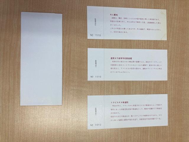 函館本線開通80周年記念入場券