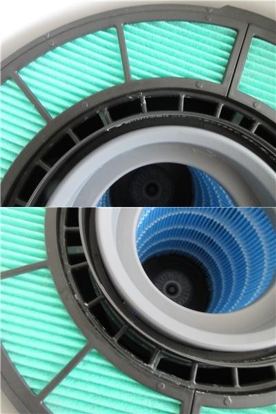 中古◆BALMUDA バルミューダ 気化式加湿器 Rain ERN-1100UA-WK 2017年製 UniAuto対応Wi-Fiモデル ホワイト フィルターセット付◆加湿器_水垢あり
