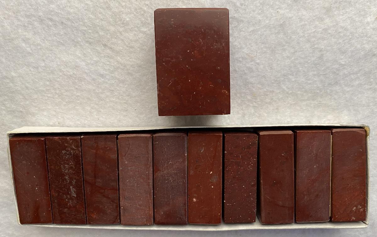 印材 肖山紅章 3.5cm角 x 1個 1.8cm角 x 10個 未使用 印章 篆刻 中国 書道_画像1