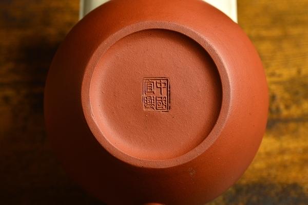 中国宜兴 朱泥大振り急须一対 煎茶道具 紫砂壷