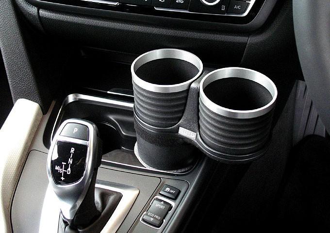 【ALCABO/アルカボ】 ドリンクホルダー ブラック/リング カップ タイプ BMW 3 Series F30/F30AH/F31/F34/F80 [AL-B111BS]_画像2