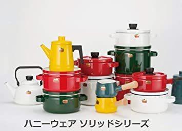 【新品未使用】グリーングリーンソリッド富士ホーローSD15MGミルクパン15cm片手鍋 `_画像7