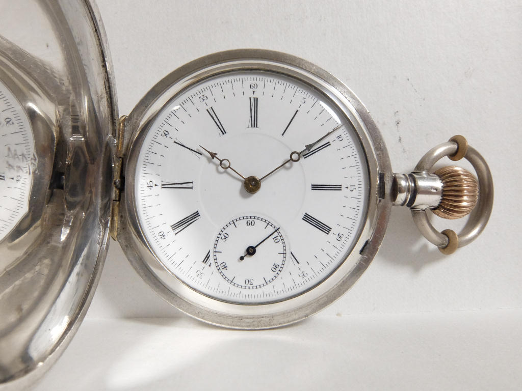商館時計 ファブルブラント商会 星獅子印(準高級品) 13石 銀無垢フルハンターケース 分解清掃済み