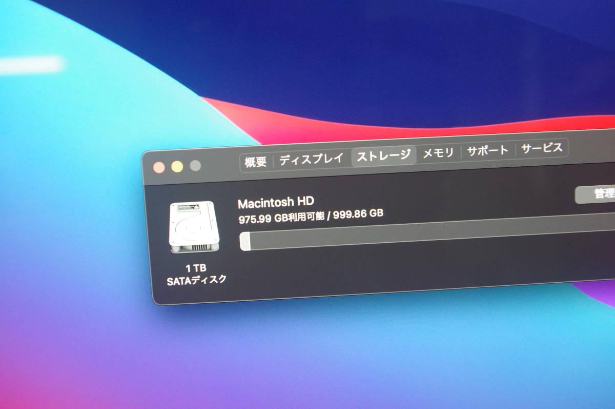 iMac A2116 MODEL Z0VX0006B (Retina 4K,21.5-inch, 2019) CPU 3.6GHz Core i3 Radeon Pro 555X HDD1TB DDR4 8GB Mac OS Big Sur 11.2.3_画像8