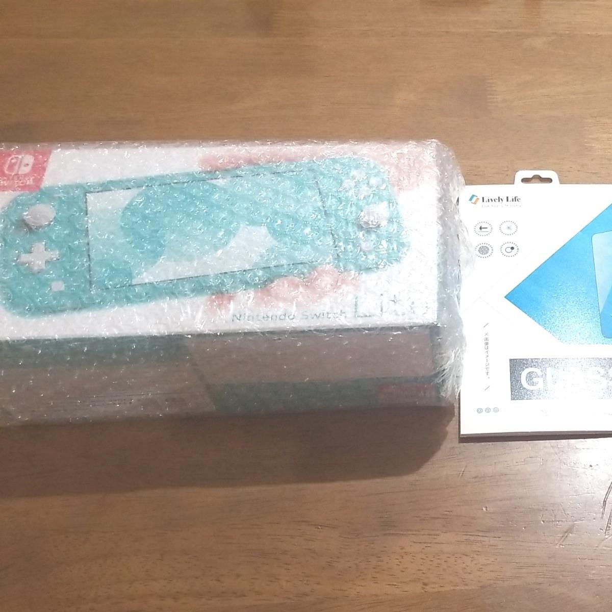 Nintendo Switch Lite ニンテンドー スイッチ ライト 本体 新品未開封 ターコイズ 液晶ガラスフィルム付き