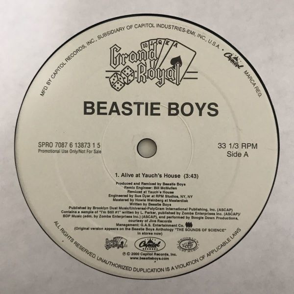 Beastie Boys - Alive At Yauch's House【US Promo】【プロモオンリー】【Evidence Remix】
