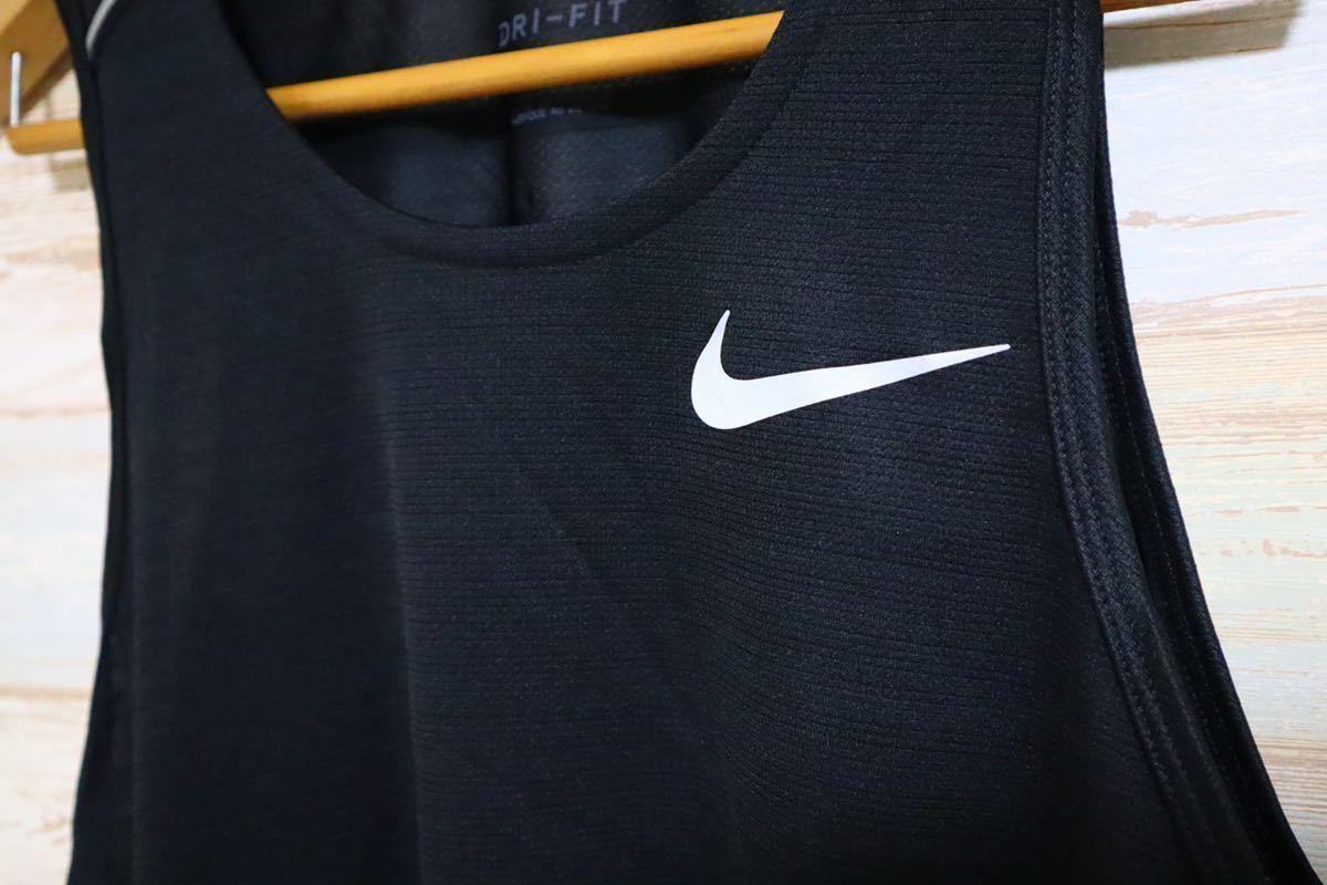 新品 XLサイズ NIKE ナイキ メンズ ドライフィット マイラー ランニング タンクトップ 黒 ブラック