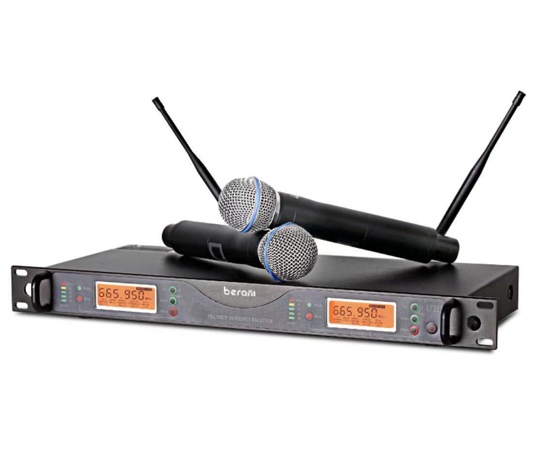 プロ仕様UHFワイヤレスマイクシステム Wireless Microphone_画像1