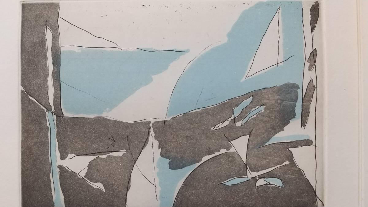 カサマダ 銅版画   直筆サイン入り  1987年?88年?制作  限定75部  額装 【真作保証】 スペイン・バルセロナ ART FRONTギャラリー_画像6