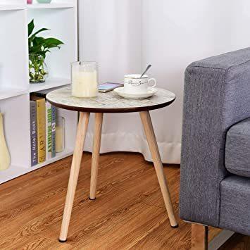 ナチュラル サイドテーブル ミニテーブル ナイトテーブル カフェテーブル 丸テーブル ソファサイドテーブル ティータイム 寝室_画像3