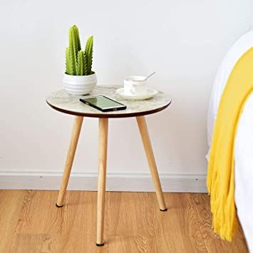 ナチュラル サイドテーブル ミニテーブル ナイトテーブル カフェテーブル 丸テーブル ソファサイドテーブル ティータイム 寝室_画像4